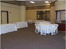 Rectangular and  Round Table Setup at Welder Center