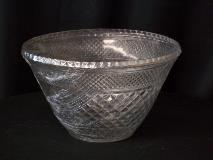10.5 qt. Cut Glass Punch Bowl